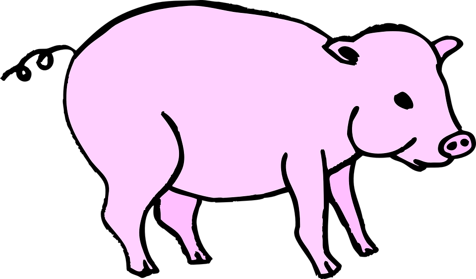 Free vector graphic: Pig, Pink, Barn, Animal, Tail.