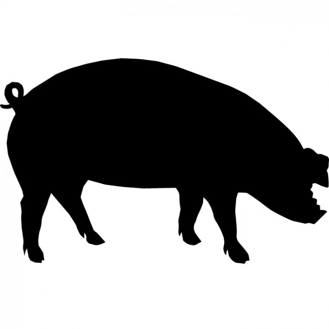 Free Pig Silhouette, Download Free Clip Art, Free Clip Art.