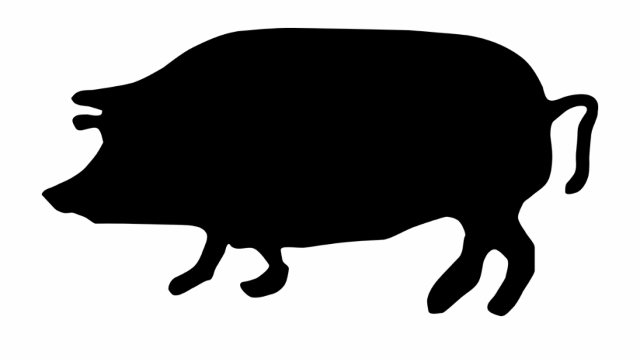Pig Animal Farm Agriculture Silhouette.