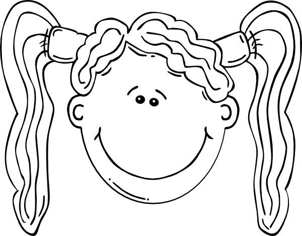 Girl With Pig Tails Clip Art at Clker.com.