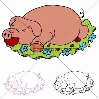 Image 3810346: Roasted Pig.