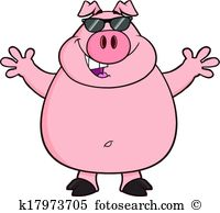 Pig Clipart Illustrations. 19,217 pig clip art vector EPS drawings.