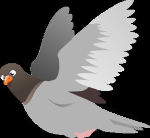 A Flying Pigeon Clip Art at Clker.com.
