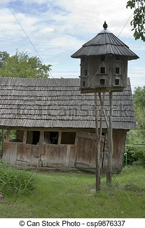 Picture of Wooden pigeon house.