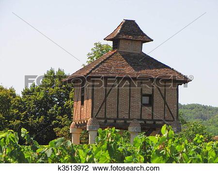 Stock Photo of Castle, Lagrezette, pigeon.