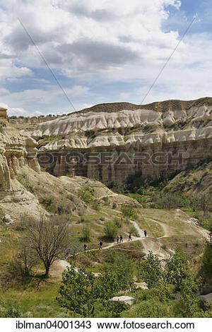 "Stock Photo of ""Hiker in Pigeon Valley or Guvercinlik Vadisi."