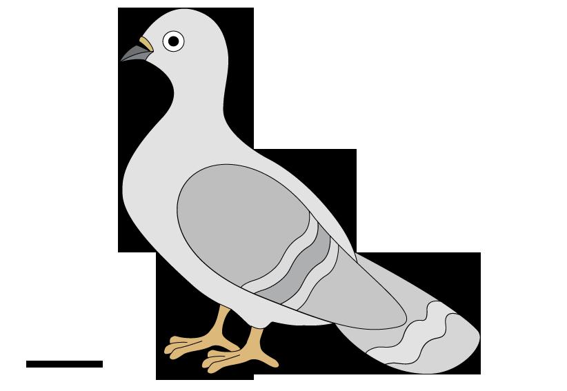 Pigeons clip art 2 image #35480.