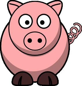Pig 4 Clip Art at Clker.com.