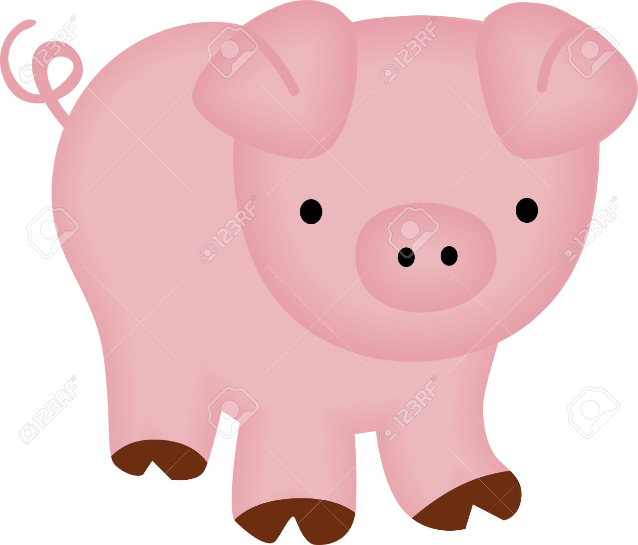 Cute Piggy Royalty Free Cliparts, Vectors, And Stock Illustration.