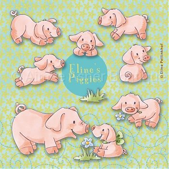 Eline's piggies :: Clipart and Graphics :: Aimee Asher Boutique.