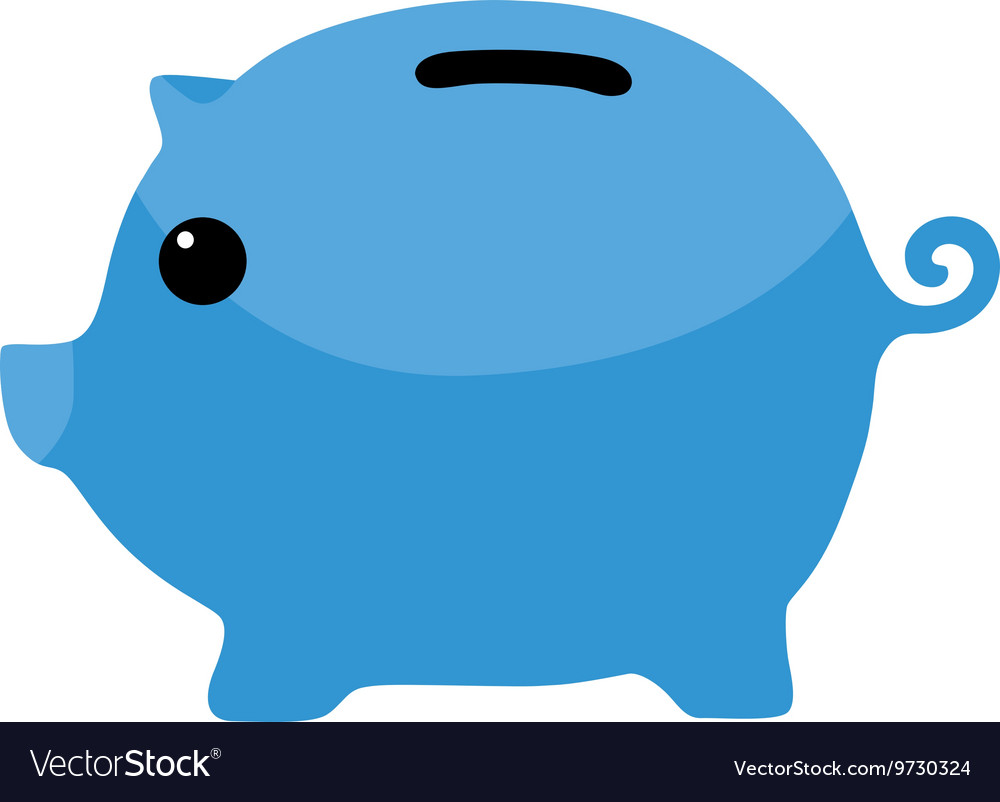 Blue Piggybank Clipart.