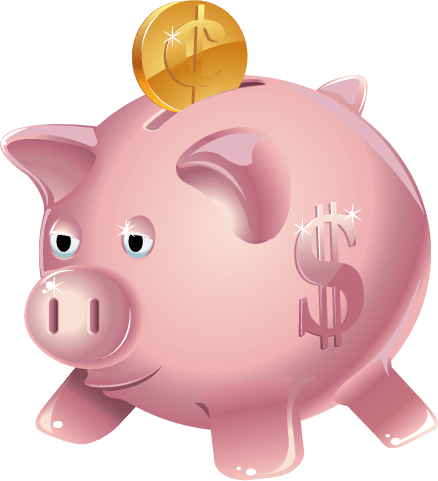 Piggy Bank Clipart transparent PNG.