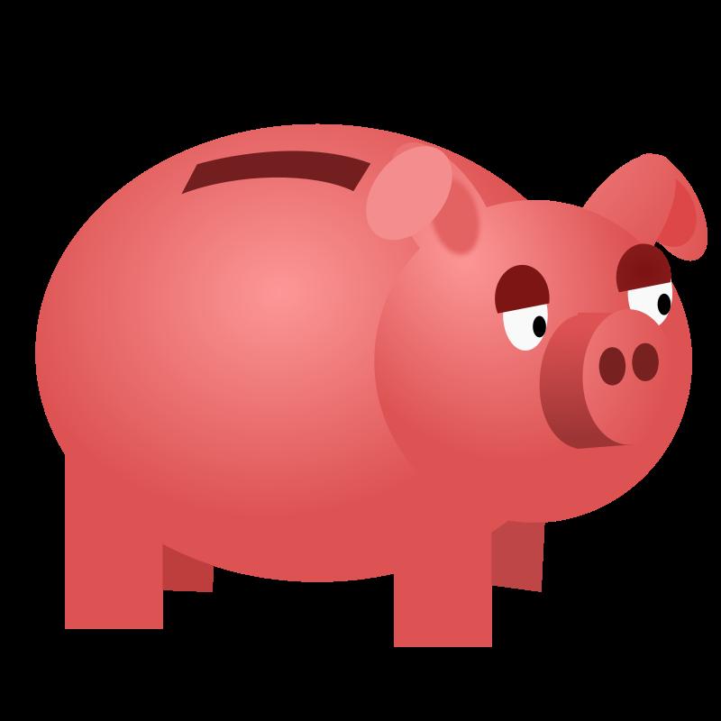 Free Clipart: Piggy bank.