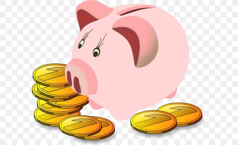 Piggy Bank Free Content Saving Clip Art, PNG, 600x500px.