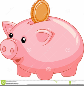 Cartoon Piggy Bank Clipart.