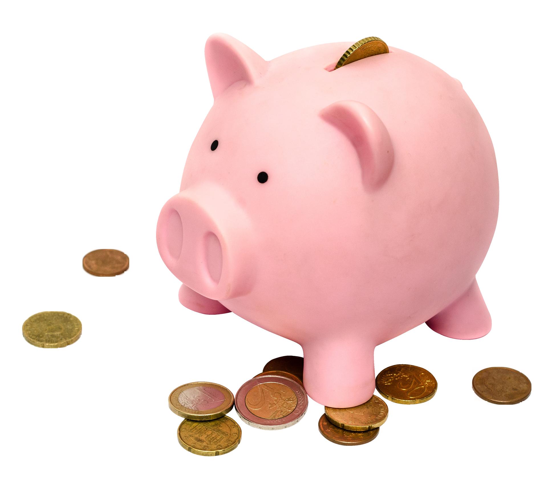 Piggy Bank PNG Image.