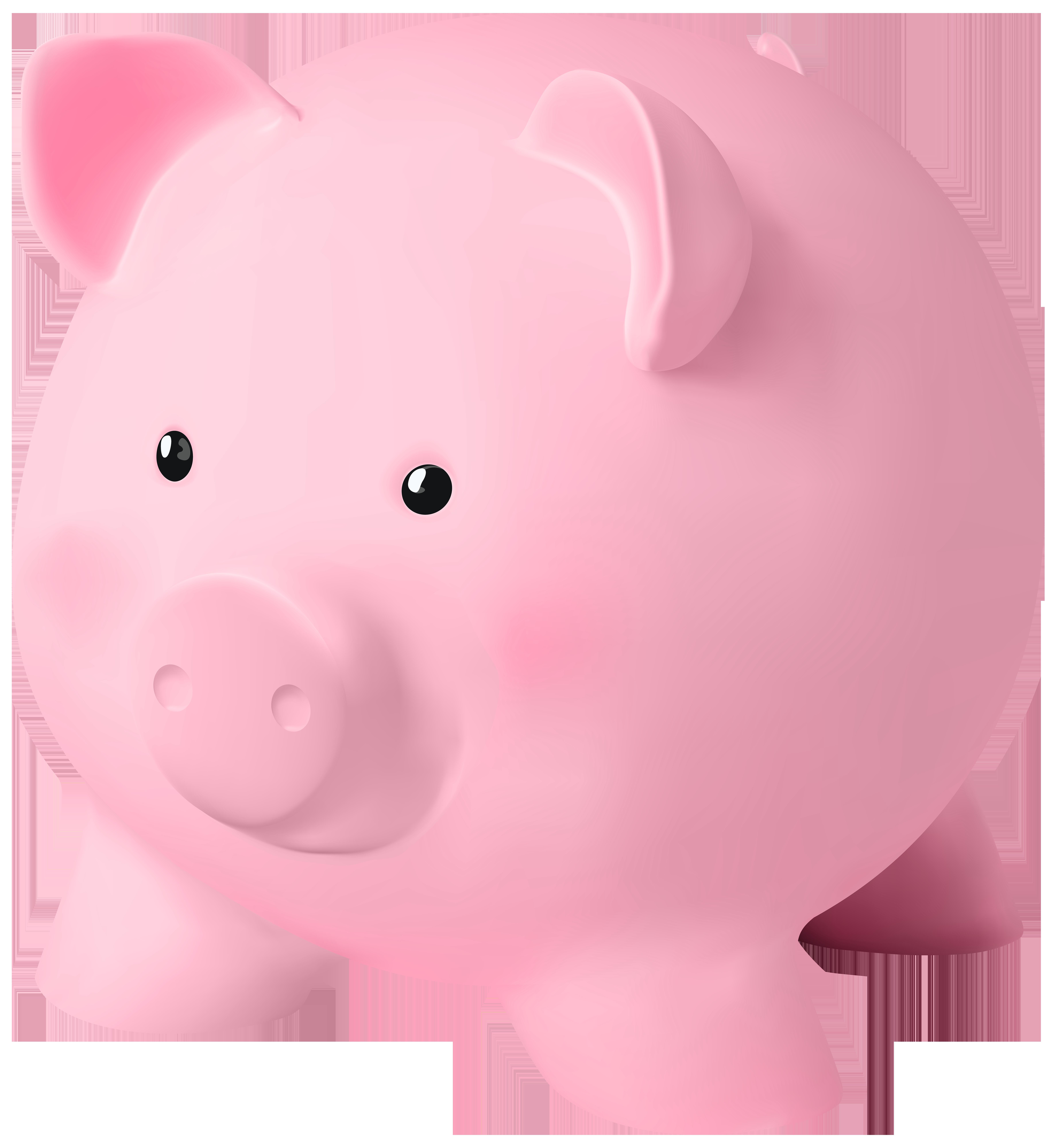 Piggy Bank PNG Clip Art Image.