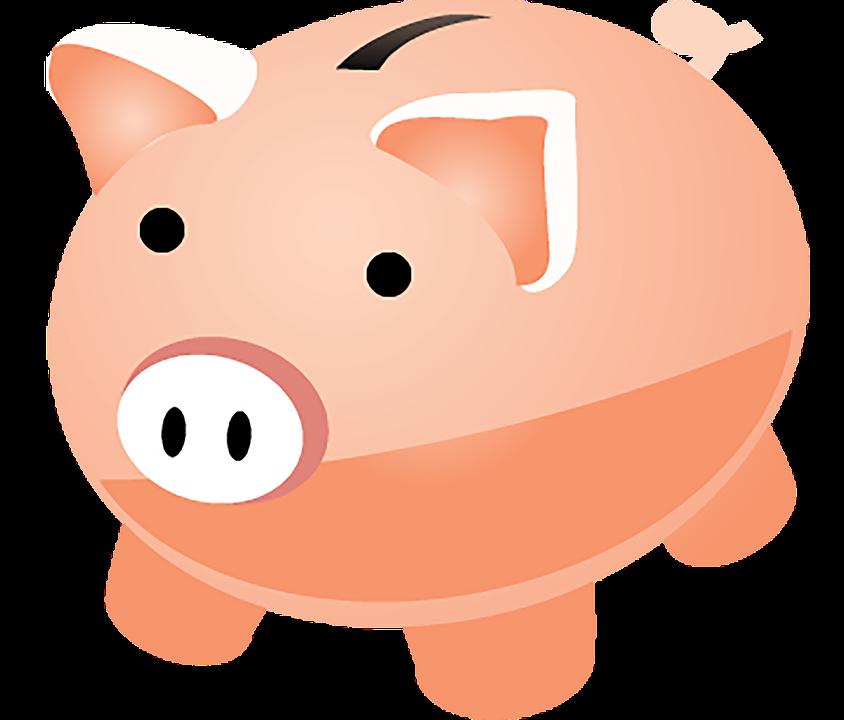 Piggy bank money clipart clipground for Transparent piggy bank money box