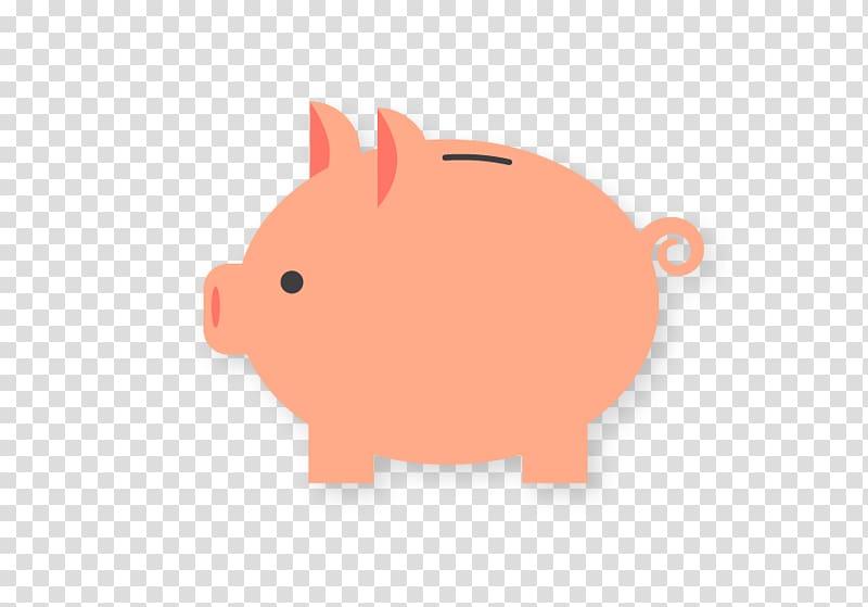 Domestic pig Piggy bank, Piggy bank transparent background.