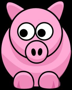 Piggy Clip Art at Clker.com.