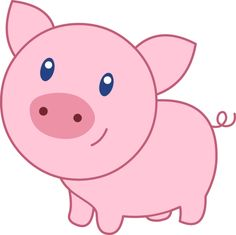 Cute Piggy Clipart.