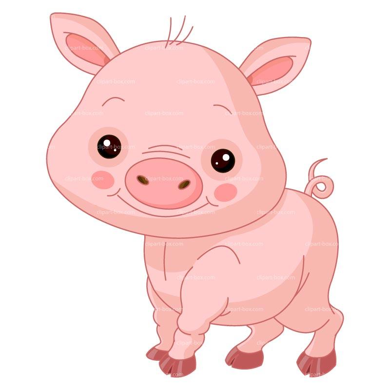 Clip Art Cute Piggy Clipart.