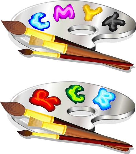 Color Pigments Picture 02, Vector Images.