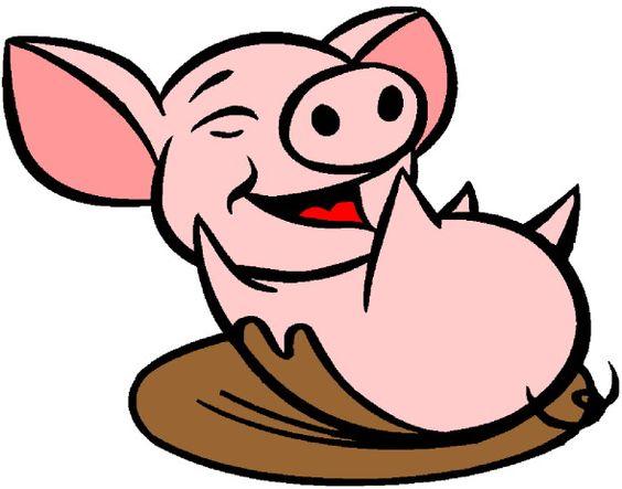 Muddy Pig Clipart.