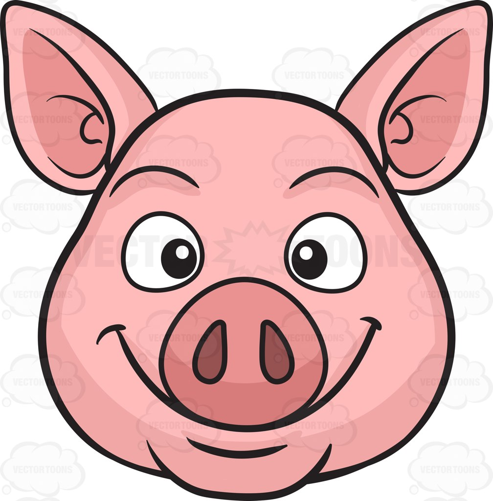 Clipart pig face.