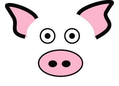 Pig Ears Clipart.