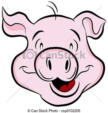 Pig head Vector Clipart EPS Images. 1,505 Pig head clip art vector.