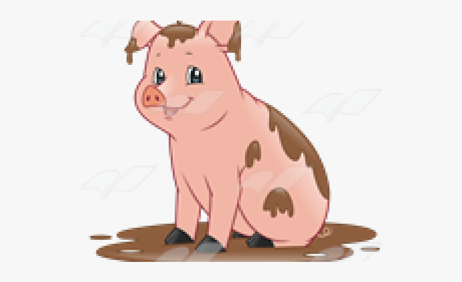 Mud Clipart Piggy.