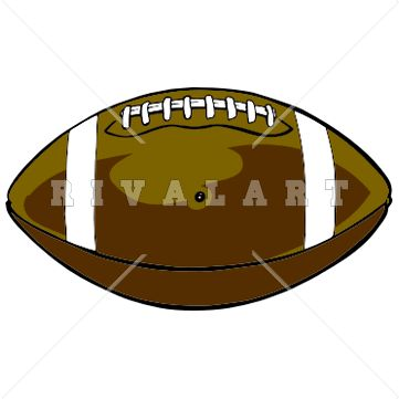 Sports Clipart Image of Football Graphic Laces Pigskin.