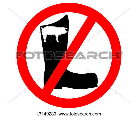Clipart of No pigskin boots k7149280.