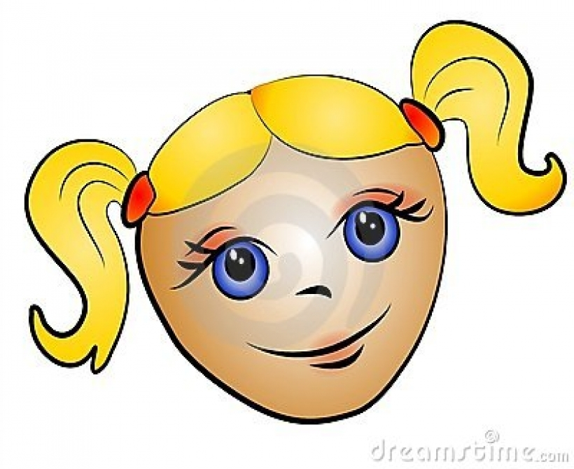 Pigtail clipart.