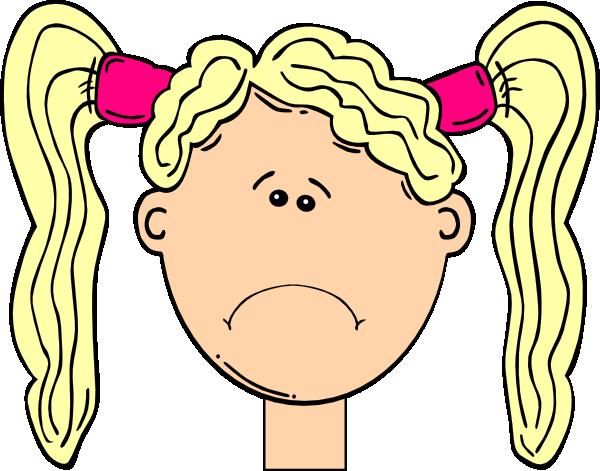 Girl pigtail hair clipart.