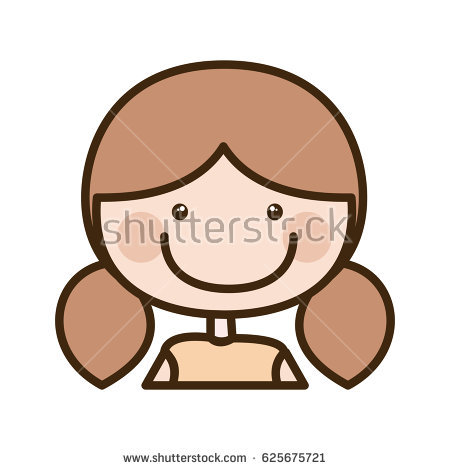 Silhouette Pigtails Stock Images, Royalty.