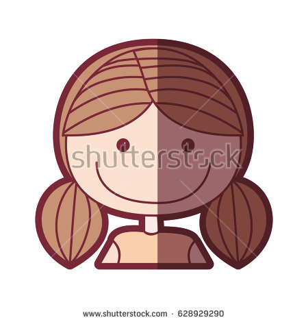Pigtails Vector Stock Images, Royalty.