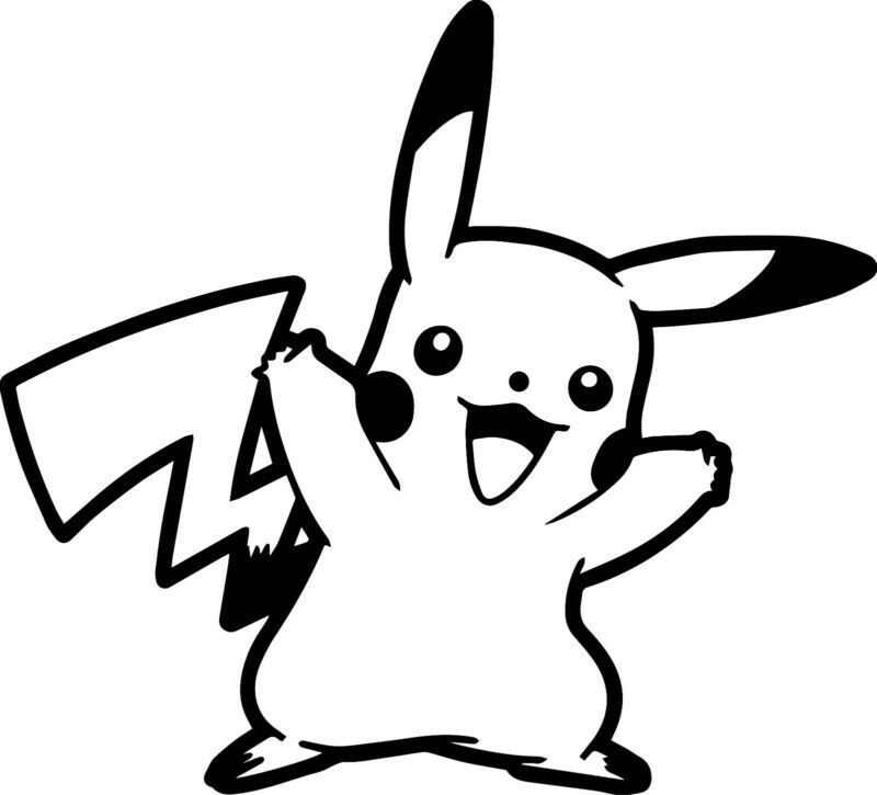 Black And White Clipart Pokemon.