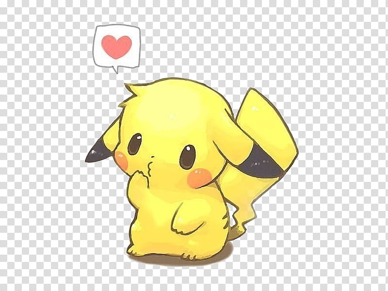 Cute , Pikachu transparent background PNG clipart.