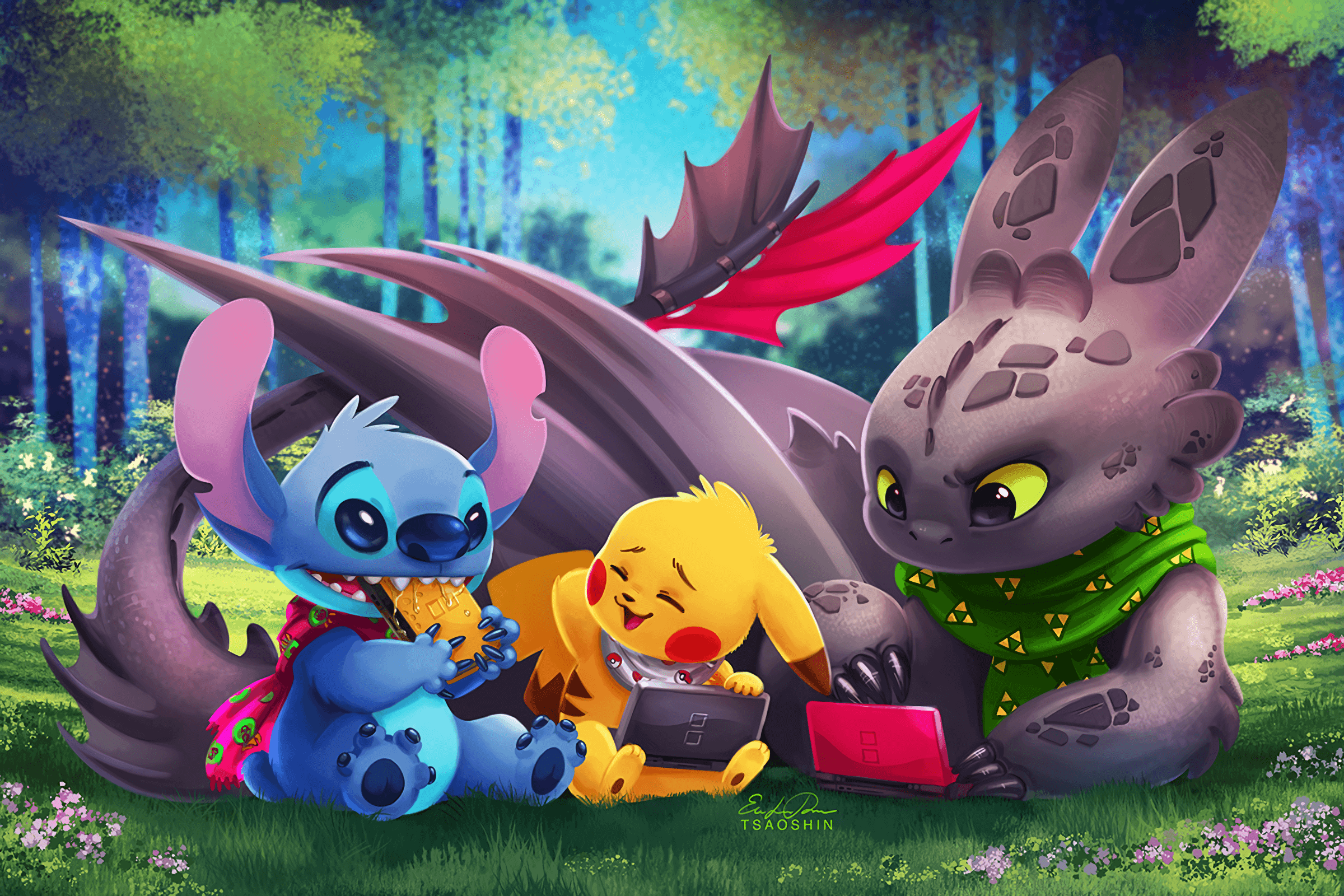 Toothless And Pikachu Wallpapers.
