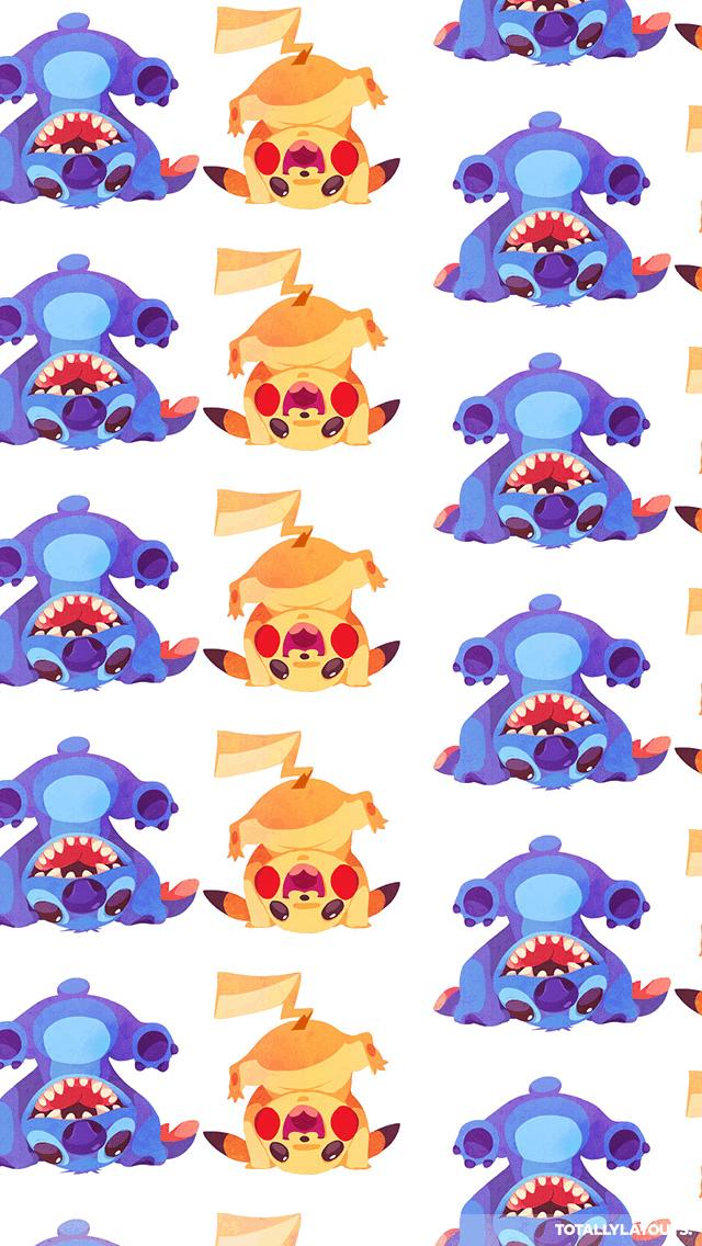 Stitch And Pikachu Iphone (#301987).