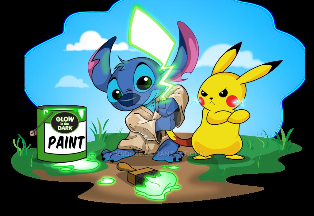 Pikachu And Stitch by kudoze on DeviantArt.