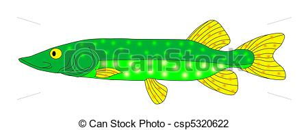 Clip Art of pike.