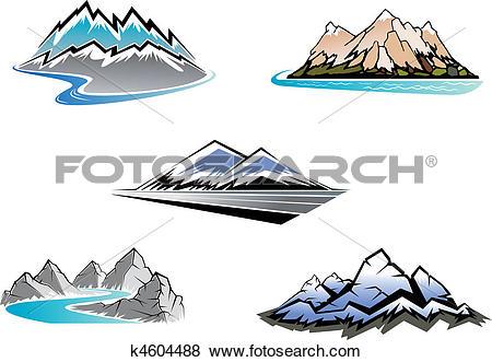 Clip Art of Mountain peaks k4604488.