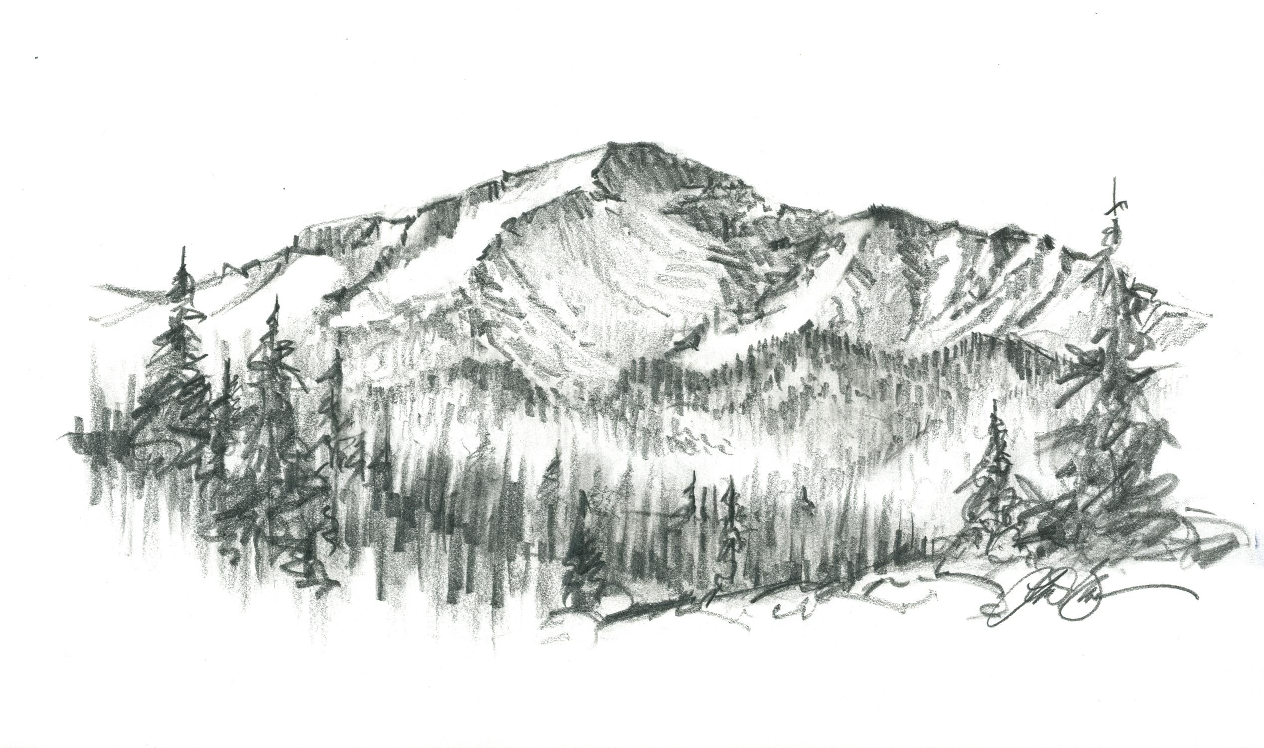 Pikes peak clipart.