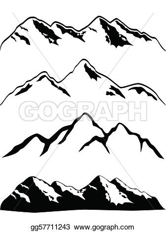 Gallery For > Pikes Peak BW Clipart.