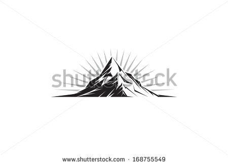 Illustration Mountain Peak Silhouette Stock Vector 168755549.