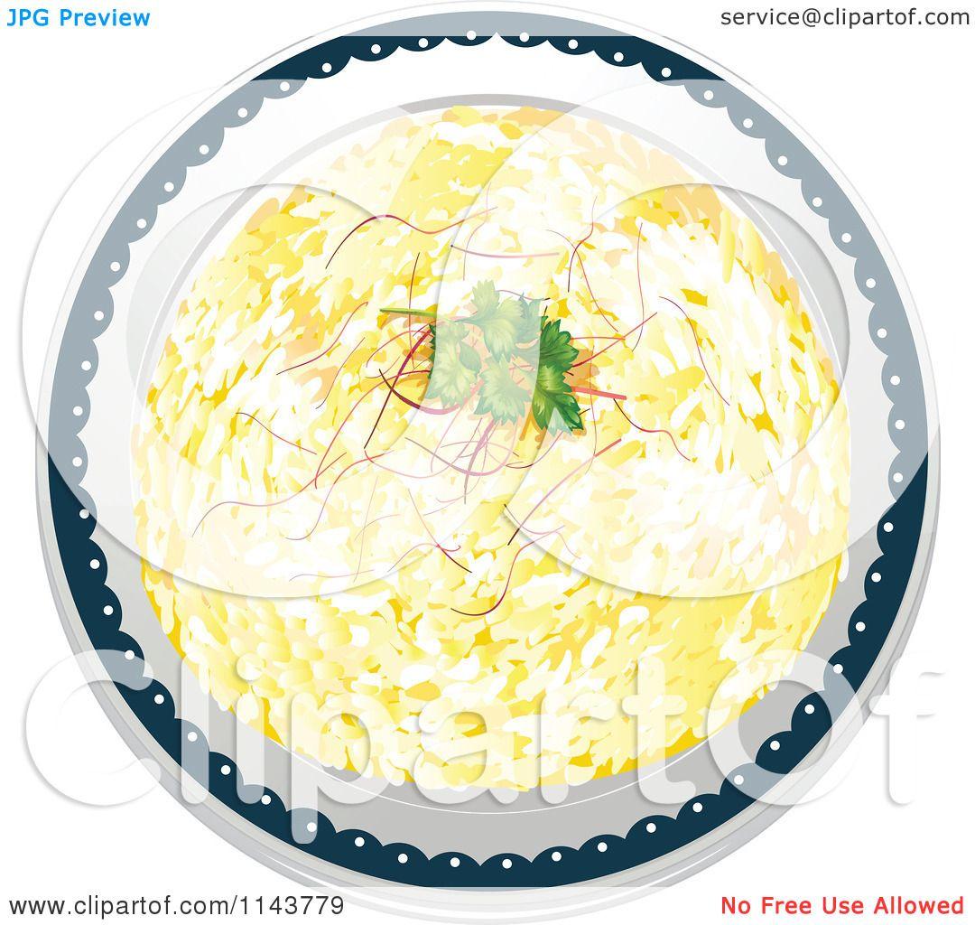 Cartoon Of A Rice Pilaf Indian Dish 2.