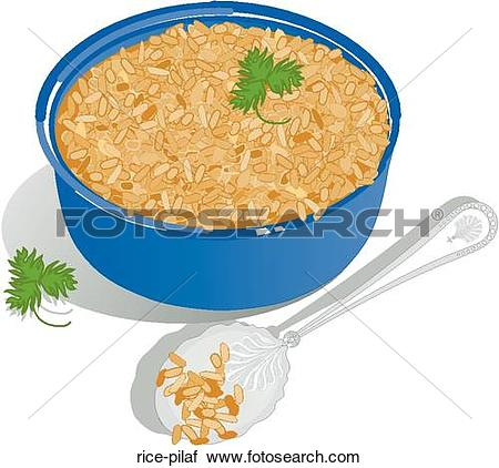 Clipart of Rice Pilaf rice.
